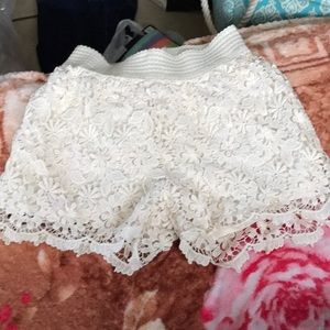 Off White lacy shorts were worn about once